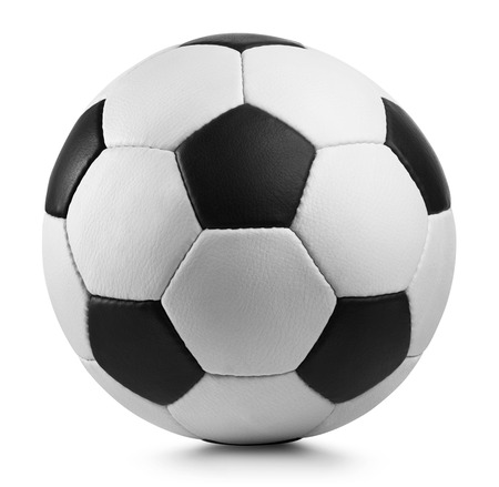 clipping  path: soccer ball isolated on white background. Clipping Path