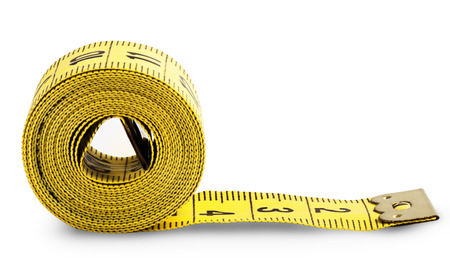 Measuring tape isolated on white background. Clipping Path Imagens - 29833351
