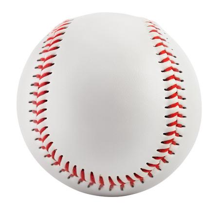 クリッピング パスと白で隔離野球 写真素材