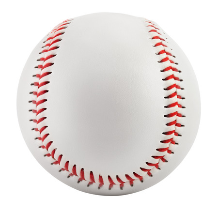 Baseball isolated on white with clipping path Banco de Imagens