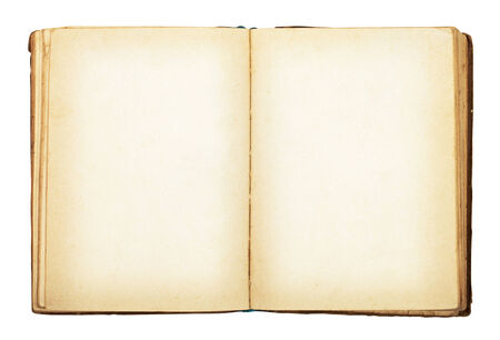 Old book isolated on white background. Clipping Path photo