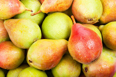 background of ripe juicy pears for your design photo