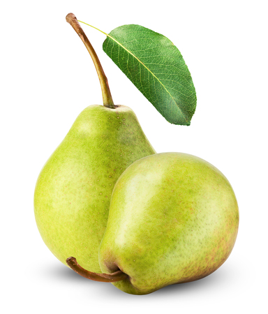 Fresh pears isolated on a white background. photo