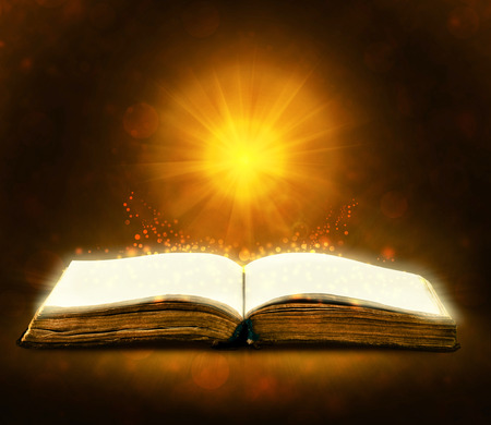baptist: Old book with magic Ray of light