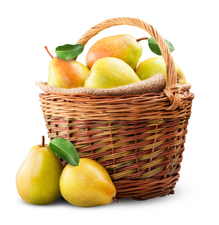 Fresh pears isolated on a white background. Clipping Path photo