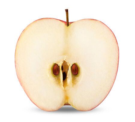 apple slice isolated on white background.