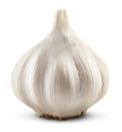 ajo: ajo aislado sobre fondo blanco. Trazado de recorte Foto de archivo