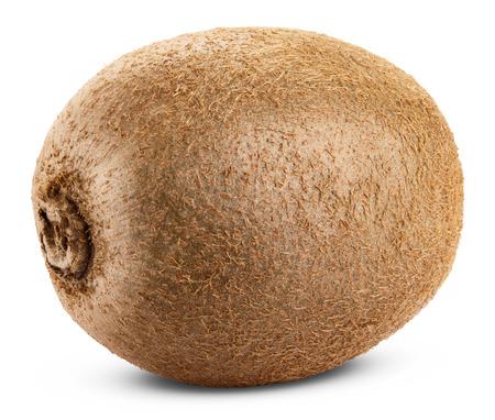 Kiwi fruit isolated on white background. Clipping Path Standard-Bild