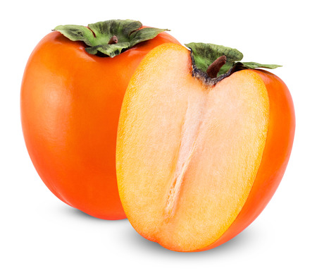 Fresh Persimmon fruit isolated on a white background photo