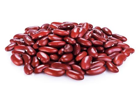 白地に赤インゲン豆 写真素材