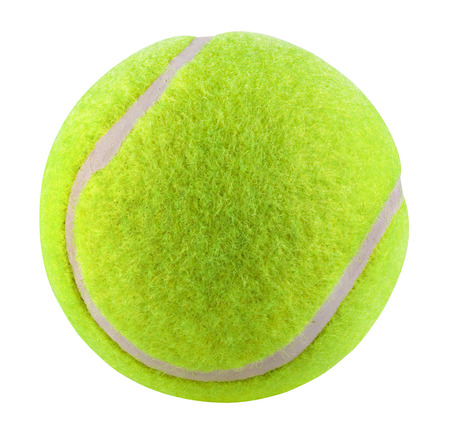 Tennis Ball isolated on white background. Clipping Path Archivio Fotografico