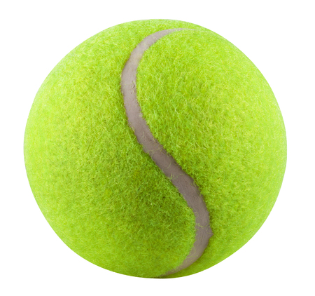 Tennis Ball isolated on white background. Clipping Path Standard-Bild