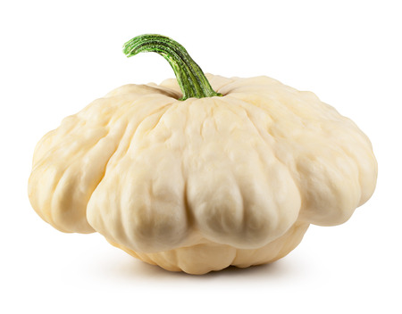 Patty pan Squash on white  Banco de Imagens