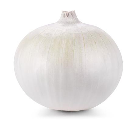 cebolla blanca: Cebolla aislados sobre fondo blanco. Trazado de recorte