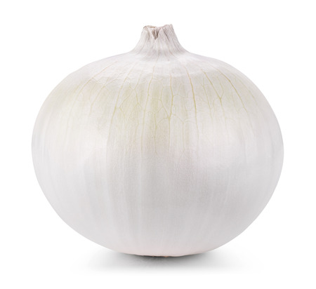 Onion isolated on white background. Clipping Path Standard-Bild