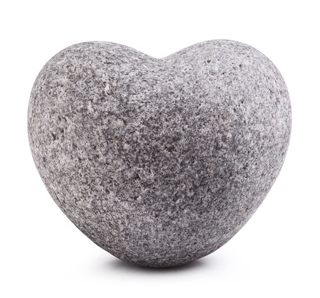 heart of stone: Stone in shape of heart Isolated on white background