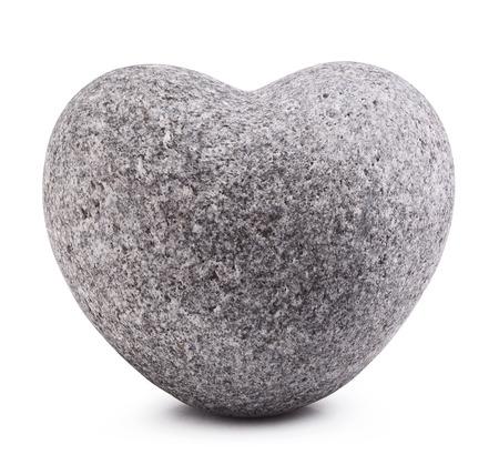 hardships: Stone in shape of heart Isolated on white background