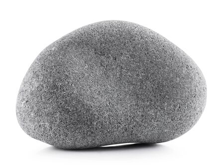 pebbles: Gray stone isolated on a white background. Clipping path