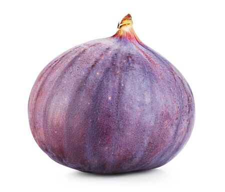 purple fig: Ripe sweet fig isolated on white. Clipping Path