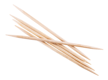 toothpick: wooden toothpick isolated on white background. Stock Photo
