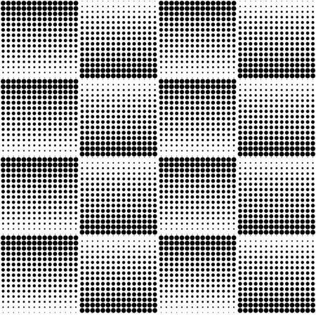 Halftone wave background. Curved gradient texture or pattern. Pop art texture Illustration