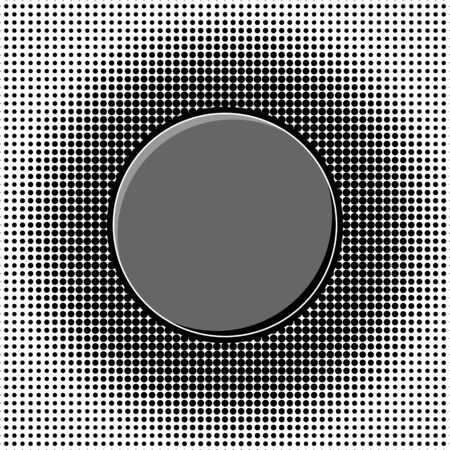 Different gradient circles in halftone effect Illustration