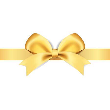 Arcs dorés décoratifs avec illustration vectorielle de ruban jaune