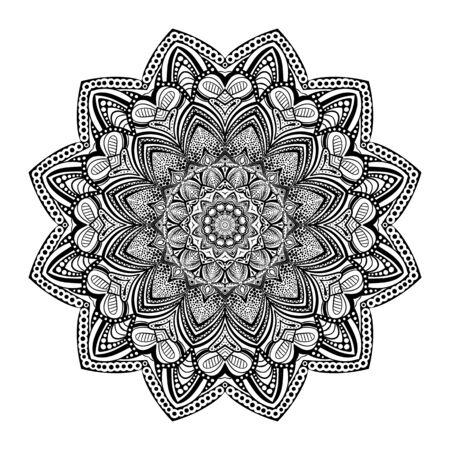 Pattern with mandala decoration. For fabric, textile, bandana, carpet print