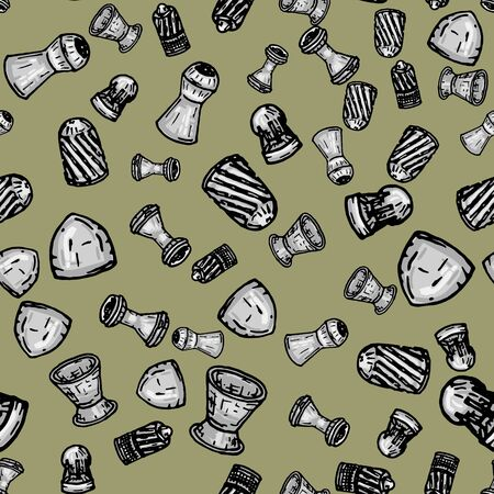 seamless pattern with many lead bullets