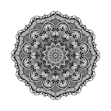Pattern with mandala decoration. For fabric, textile, bandana, carpet print Illustration