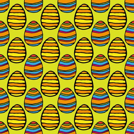 Vector seamless simple pattern with ornamental eggs. Easter holiday background for printing on fabric, gift wrap and wallpapers