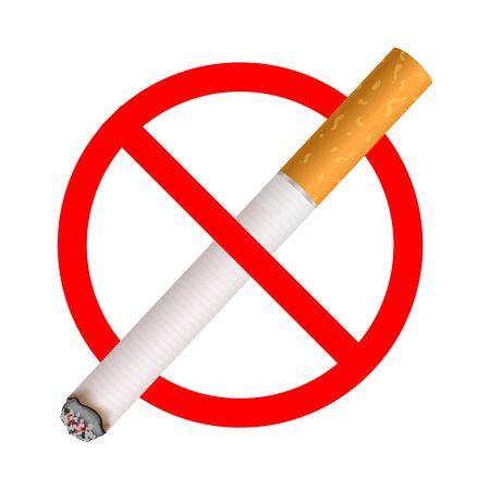 Sign no smoking. Illustration on white background