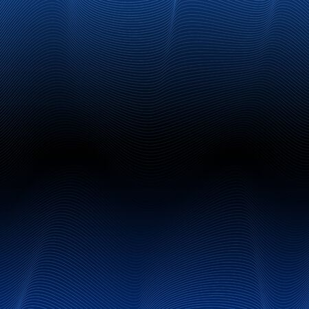 Abstract vector blue wave background Illustration