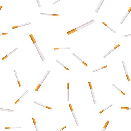 Seamless texture of cigarettes. Vector texture