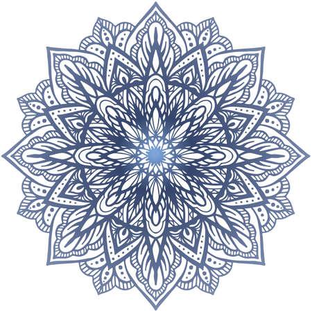 Vector boho mandala. Yoga template. Round gradient mandala. Mandala patterns Иллюстрация