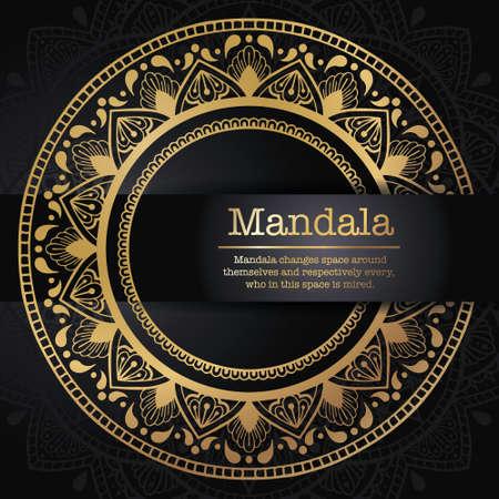 Vintage vector handmade round mandala elements. Luxury festive background. Postcards or invitations with a mandala pattern. Islamic, Arab, Indian, Turkish, Ottoman, Pakistani ornaments
