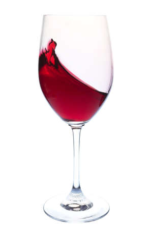wine background: Red wine in a glass on a white background