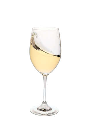 Glass of wine on a white background photo