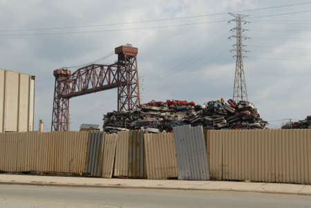 Car parts scrap yard in south side of Chicago photo