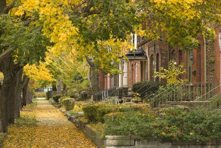 Suburbane wijk in South Side van Chicago, horizontale