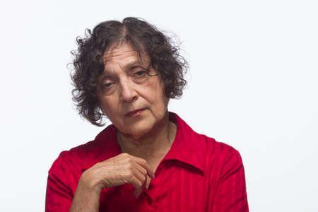 Woman looking sad, horizontal