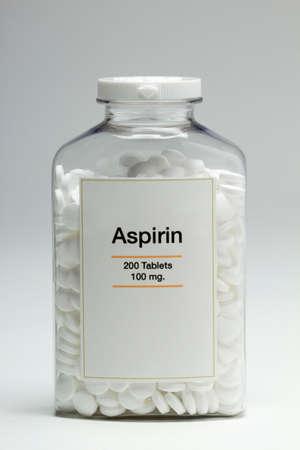 Bottle of aspirin, vertical photo