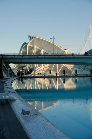 Valencias science museum and IMAX movie theatre. Spain.