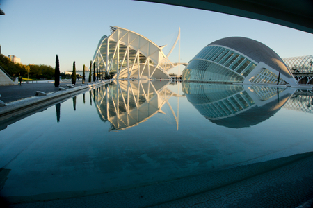 Valencia's science museum and IMAX movie theatre. Spain.