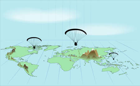 extreme science: Trip around the world by paraglider