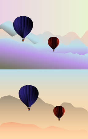 overlook: Flying in the mountains in a hot air balloon