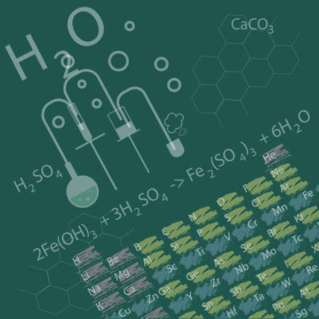 specialization: the concept of education in the field of chemistry with periodic table Illustration
