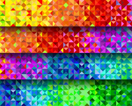 set of the background from triangles of four types