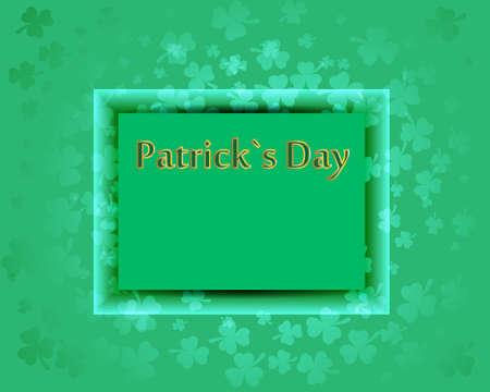 fete: Patrick`s Day clower background green frame Illustration