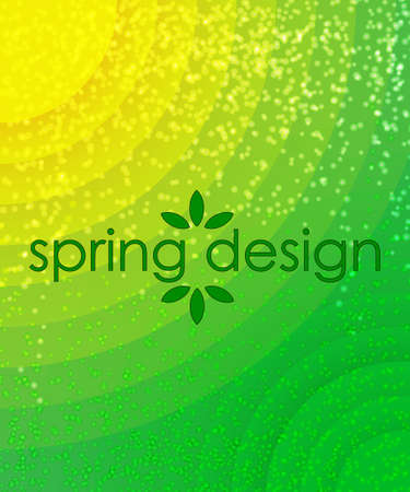 semicircle: green and yellow spring background from semicircle